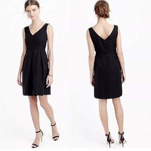 J Crew Kami Classic Faille Black Formal Dress